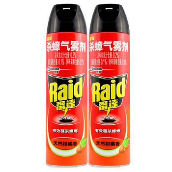 雷达杀蟑气雾剂柑橘香600ml*2