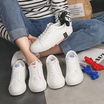 娅莱娅百搭韩版学生系带小白鞋