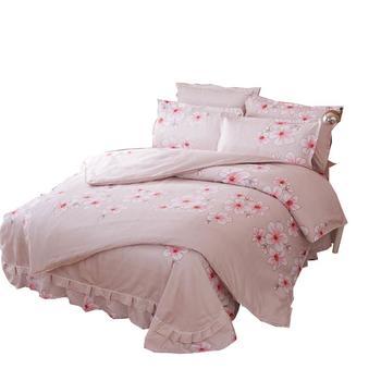 欧朵思磨毛四套件床裙 妩媚芬芳