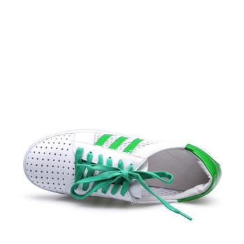艾米奇牛皮系带镂空厚底休闲鞋