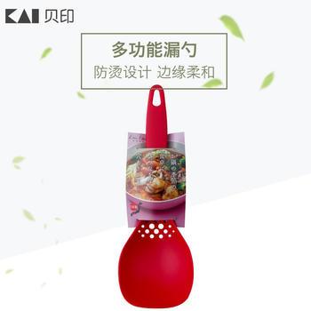 kai贝印 红色漏汁勺 汤勺