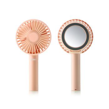 REMAX新品磁吸化妆镜手持风扇