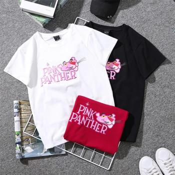 劳保拉卡通粉红豹学生装短袖T恤