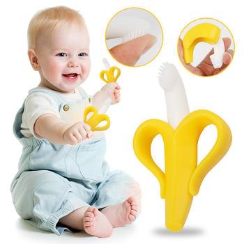 奥智嘉婴儿香蕉牙胶磨牙棒牙刷