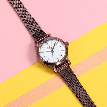 聚利时变色表盘简约钢带情侣手表