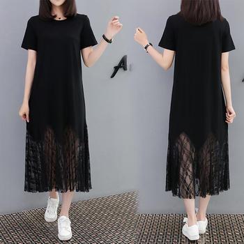 中长款连衣裙显瘦鱼尾T恤长裙