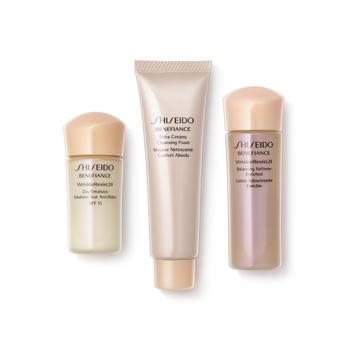 资生堂 (Shiseido)盼丽风姿抗皱旅行三件套(洁面膏30ml+滋润健肤水25ml+日乳15mlSPF15)