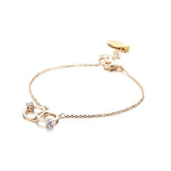 CROCUS金色双指环造型合金手链45307