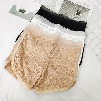 啵啵純2條裝蕾絲雙層防走光女安全褲