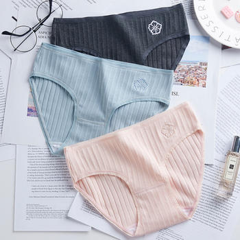 LWQGL3条装日系少女低腰纯棉内裤