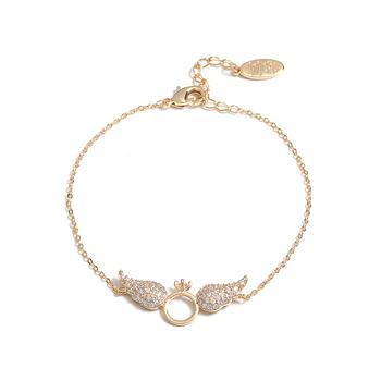 Crocus翅膀造型金色合金手饰 45351