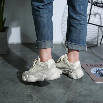 娅莱娅个性透气网纱纯色运动女鞋