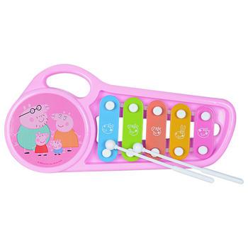 小猪佩奇锯子手敲琴乐器儿童玩具