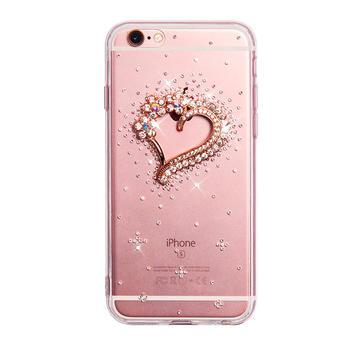 羽博  Iphone6S全包边晶钻手机壳