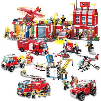 启蒙儿童积木玩具消防先锋系列