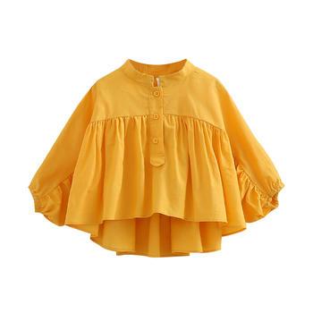 贝壳元素春装女菠萝袖裙衫tx9337