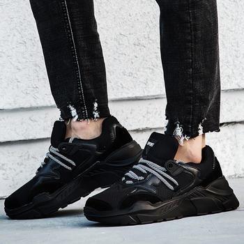 跨洋 时尚拼色情侣运动鞋 黑色