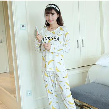 麦晴印花薄款PINK香蕉家居服套装