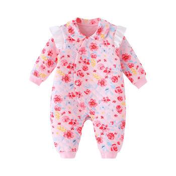 宝然宝宝保暖内衣婴儿连身衣服
