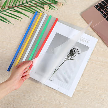 态美 办公塑料拉杆文件夹透明 16C