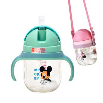 迪士尼PPSU带重力球手柄背带两用饮水杯240ml