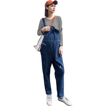 欧丽妈咪春季新款孕妇背带裤套装