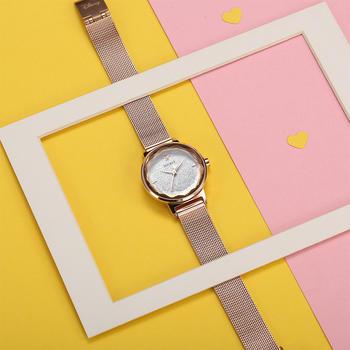 迪士尼钢带立体切割镜面潮流手表