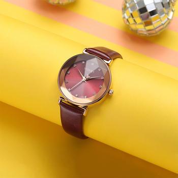 迪士尼韩风棱形镜面时尚青春手表