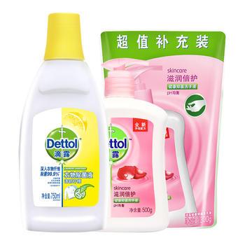 滴露衣物除  菌液750ml+洗手液800g