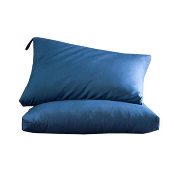 牙小白靜音枕磨毛水洗羽絲絨枕芯頸椎枕情侶學生