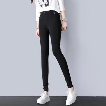 秋季新款黑色小脚裤韩版高腰紧身显瘦铅笔裤