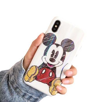 极步苹果iphone手机壳镭射软壳卡通