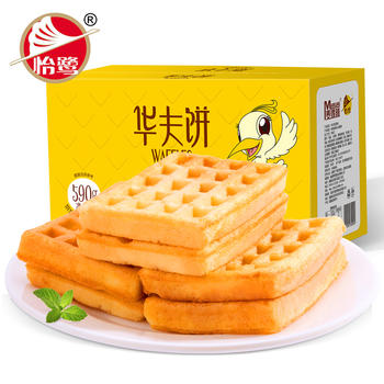 【2箱*590g】怡鹭华夫饼590g/箱
