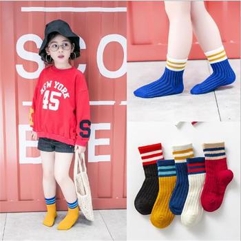 啵啵纯新儿童袜子中筒袜潮袜宝宝全棉袜5双装