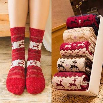 啵啵纯羊毛袜冬加厚10双装