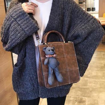 宾尼兔复古包包女小熊挂饰单肩包