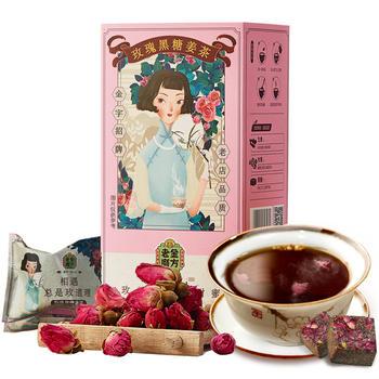 老金磨方 玫瑰黑糖姜茶140g