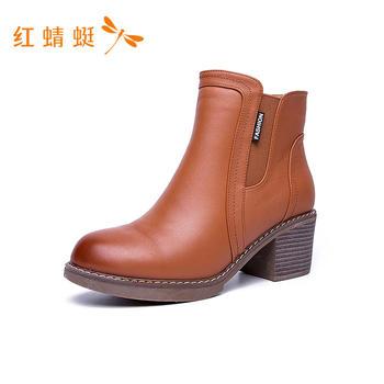 红蜻蜓短筒高跟女鞋C765132
