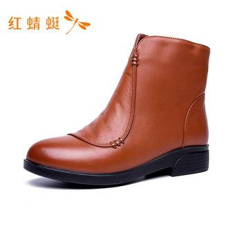 红蜻蜓马丁靴女棉鞋C726982