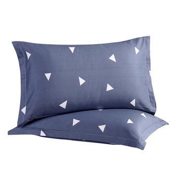 馨丝蓝纯棉枕套一对