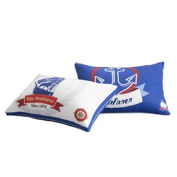 馨丝蓝全棉羽丝绒枕芯护颈枕头
