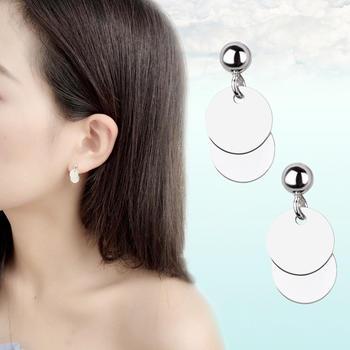 日韩个性气质圆片耳钉