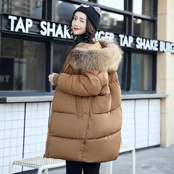衣织优美 秋冬韩版中长款棉服