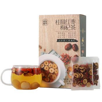 老金磨方 桂圆红枣枸杞茶300g 组合茶包小袋装