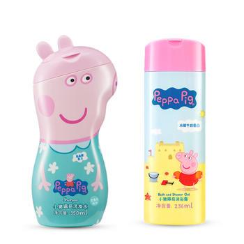 小猪佩奇组合装洗发水+沐浴露  温和无刺激 实惠装