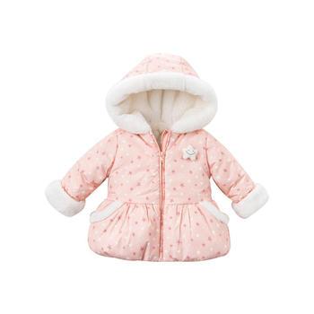 davebella冬季女童棉衣加厚连帽棉服