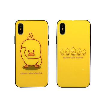 极步苹果手机壳iphone玻璃壳小黄鸭