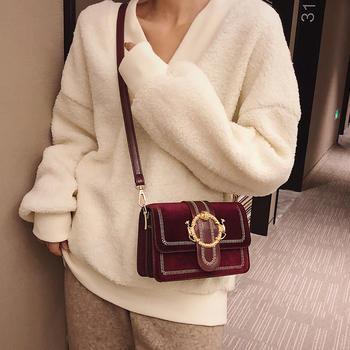 雅涵新款时尚金丝绒女包单肩包包