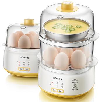 小熊煮蛋器双层预约定时家用多功能鸡蛋羹蒸蛋器