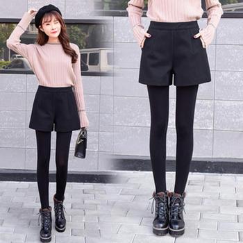 泽依秋冬季毛呢裤子靴裤外穿韩版